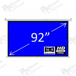 92″ Fiber Glass 16:9 Electric Screen