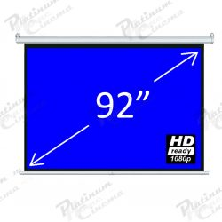92″ Matt White 4:3 Electric Screen