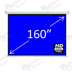 160″ 4:3 Fiber Glass Electric screen