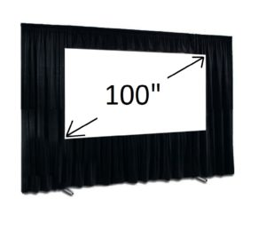 "100"" Fast Fold Screen 16:9 and Drape kit"