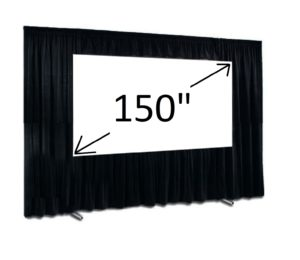 "150"" Fast fold screen 16:9 and Drape kit"
