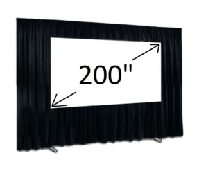200 Fast Fold Screen 16:9 and Drape kit