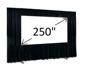 "250"" Fast Fold screen 16:9 with Drape kit"