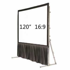 "120"" Fast Fold 16:9 bottom drape kit"