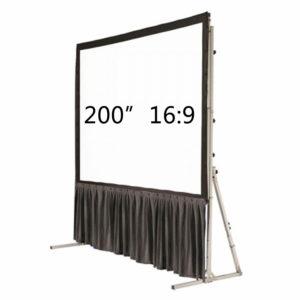"200"" Fast Fold 16:9 Bottom Drape kit"